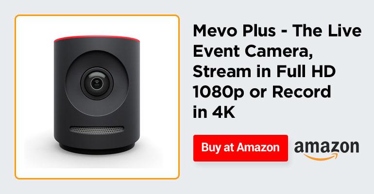 Mevo Plus - The Live Event Camera, Stream in Full HD 1080p or Record in 4K